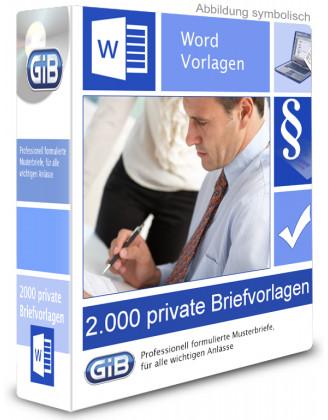 Wordvorlagen - 2.000 private Briefvorlagen
