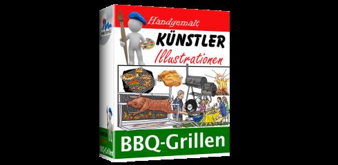 Künstler-Illustrationen BBQ-Grillen