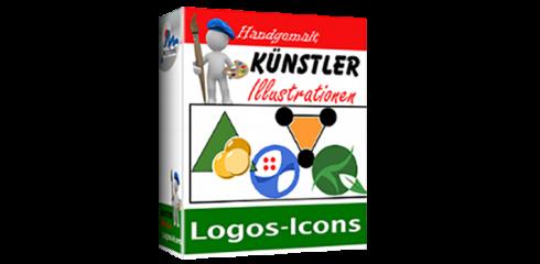 Künstler-Illustrationen - Logos und Icons