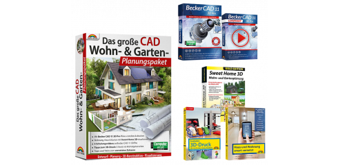 Das große CAD-Wohn- und Garten-Planungspaket inkl. E-Books.